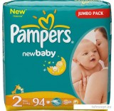 Подгузники Pampers New Baby 2 Mini Jumbo Pack (94 шт)