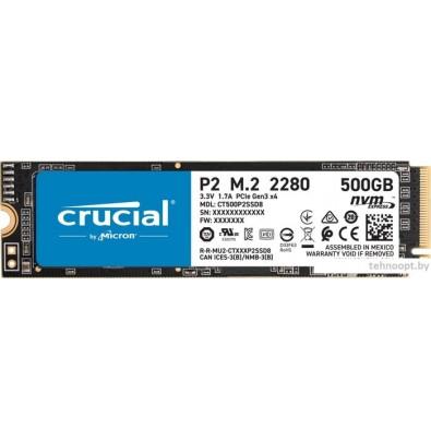 SSD Crucial P2 500GB CT500P2SSD8